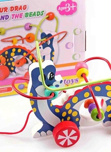 Learning Toys Dinosaur Drag Around The Beads Renkli